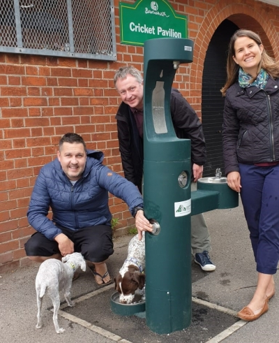 New drinking fountain for people and pooches installed at Winton Rec