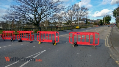 What does a closed Alder Road look like? See our photos